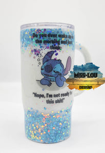 16 oz Stitch Coffee Mug Tumbler