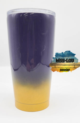Purple and Yellow 20 oz Tumbler