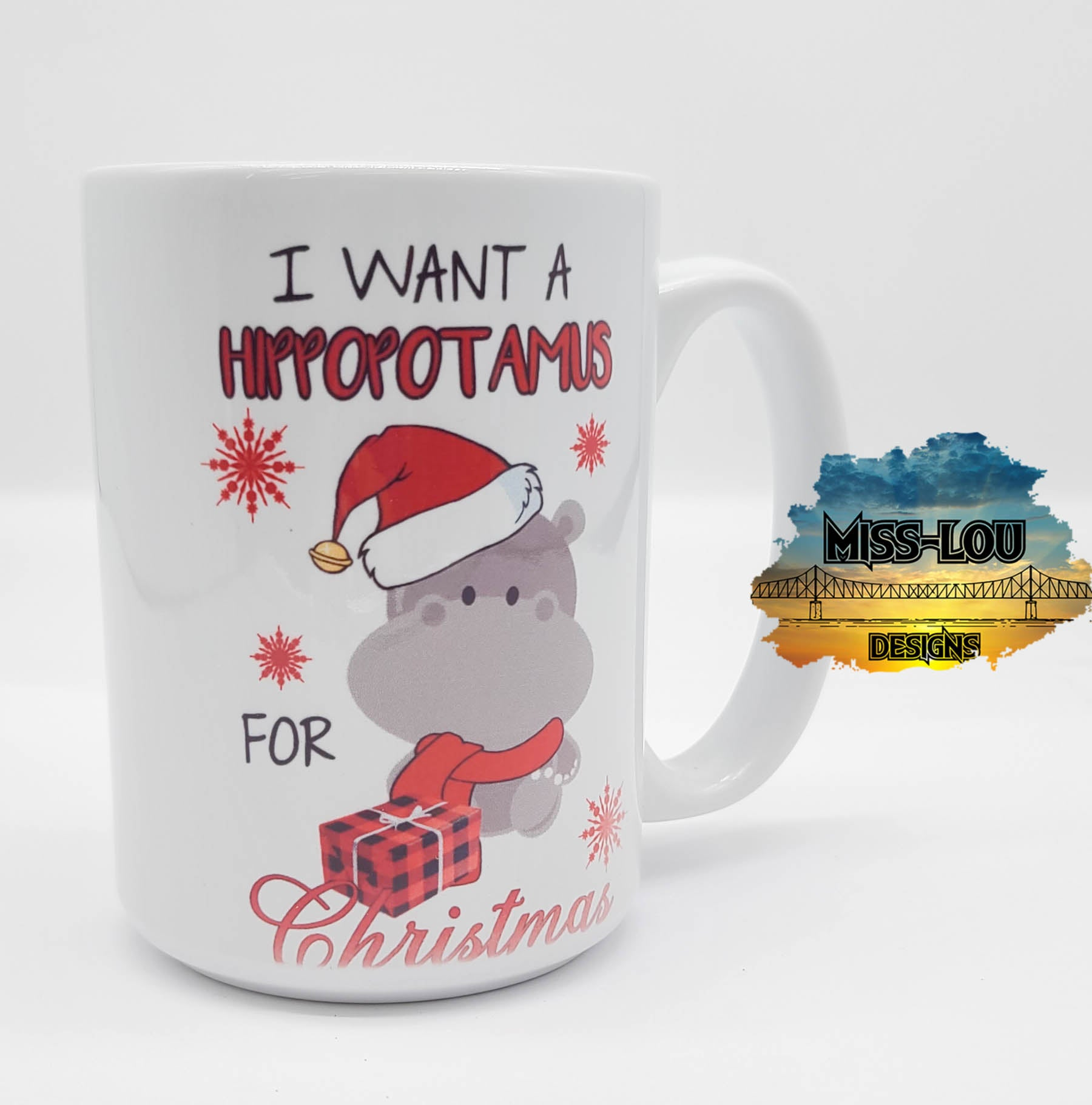 I want a Hippopotamus for Christmas 14 oz Coffee Mug