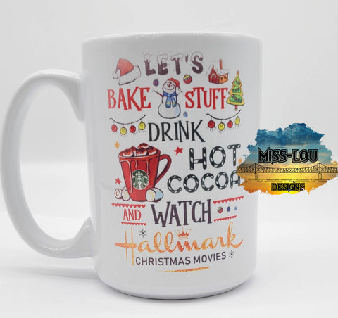 Let's Bake and Watch Hallmark 14 oz Coffee Mug
