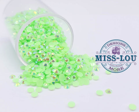Jelly Light Green AB Rhinestones