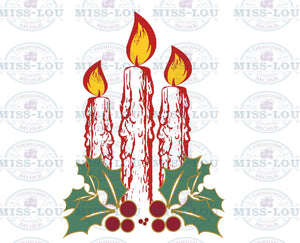 Christmas Candles Digital Download
