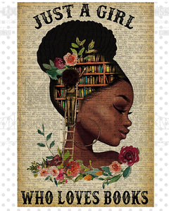 A girl who loves books v.2 32x48 Digital Download