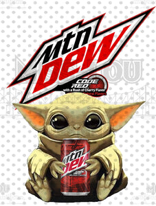 Baby Yoda Mt. Dew Code Red Digital Download