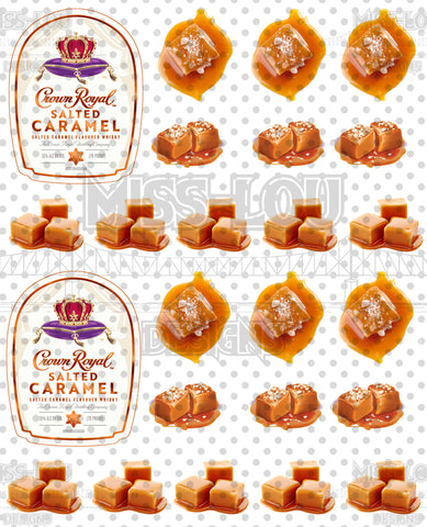 Crown Royal Caramel  Half Sheet Exclusive Waterslide