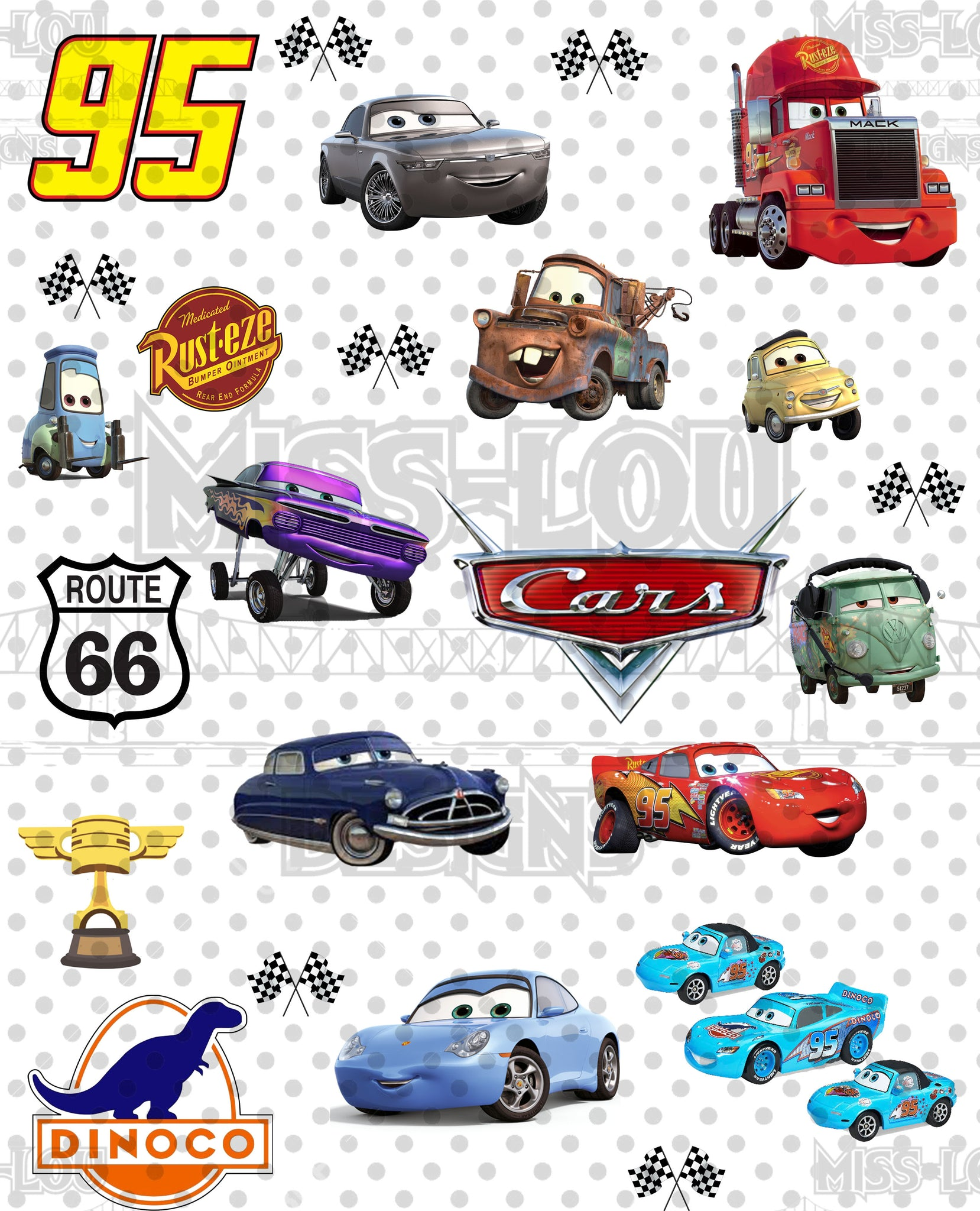 Cars Fan Sheet Digital Download