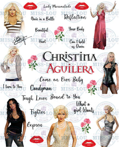 Christina Augilara Fan Sheet Digital Download