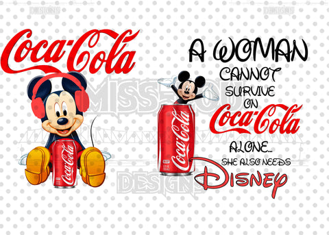 A woman Cannot Survive on Coca-Cola Alone She Needs 2 Piece Set Exclusive Waterslide