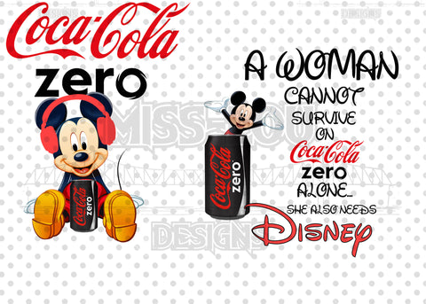 A woman Cannot Survive on Coke Zero Alone She Needs 2 Piece Set Exclusive Waterslide
