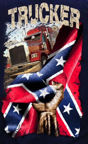 Confederate Truck Driver Distressed Flag Exclusive Waterslide
