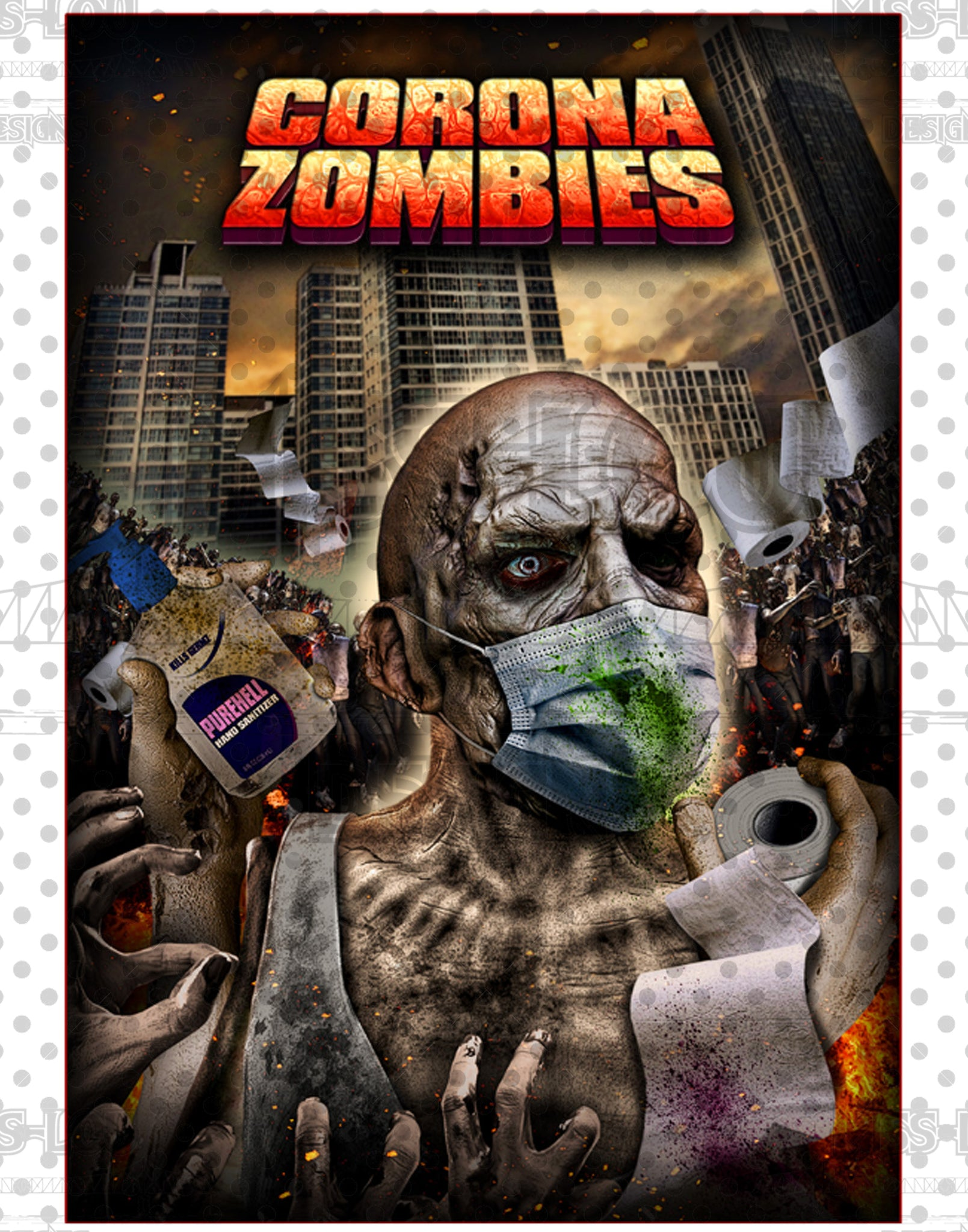 Corona Zombies Movie Poster Waterslide
