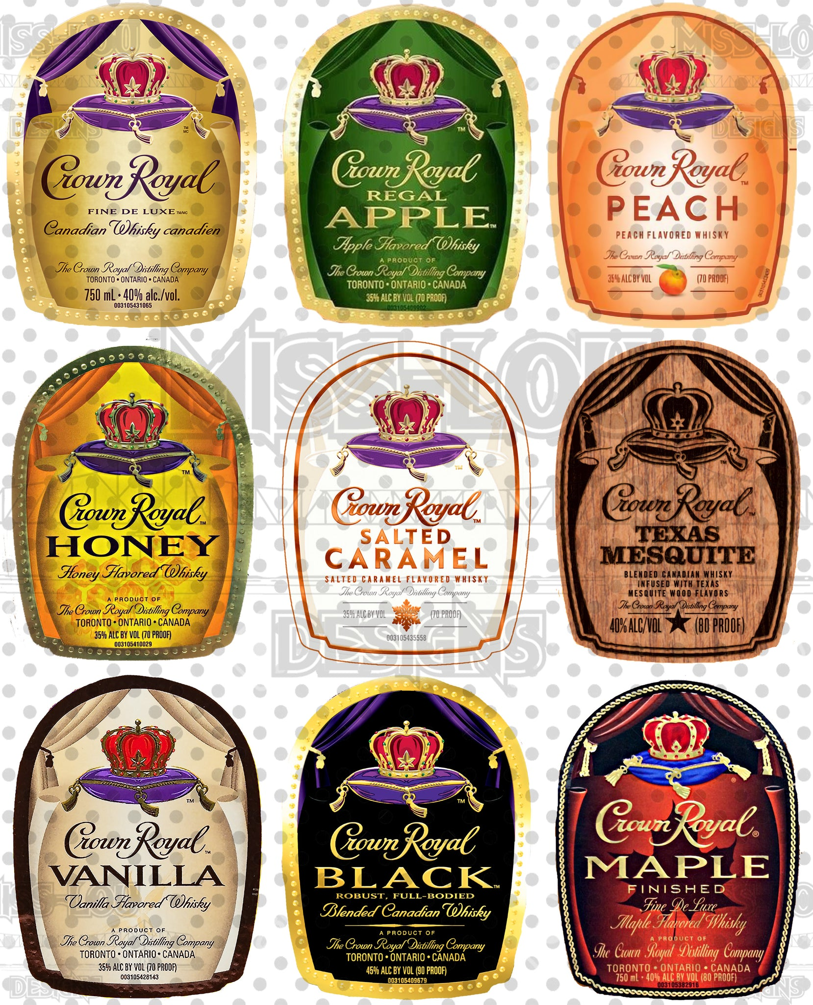 Crown Royal Label Sheet/Bundle Digital Download
