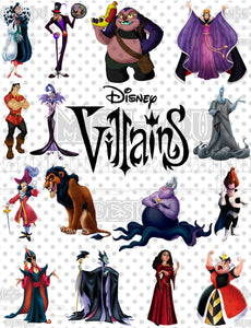 Villains Full Sheet Waterslide