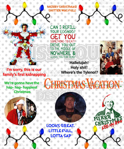 Christmas Vacation Fan Sheet Digital Download