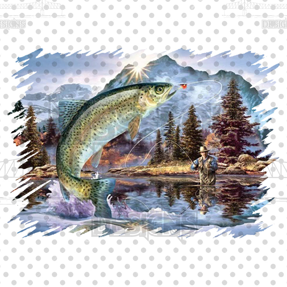 Fly Fishing Trout Digital Download