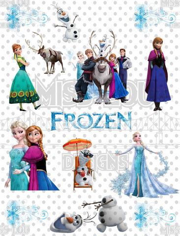 Frozen Fan Sheet Waterslide