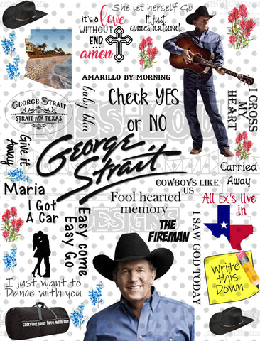 George Strait Fan Sheet Waterslide