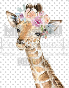 Giraffe with flowers Waterslide