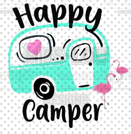 Happy Camper Mint Digital Download