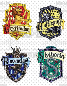 Harry Potter House Patches Digital Download