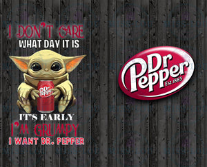 Baby Yoda Dr. Pepper Full Sheet  Digital Download