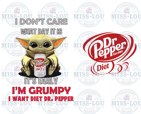 Baby Yoda Diet Dr. Pepper Full Sheet Waterslide