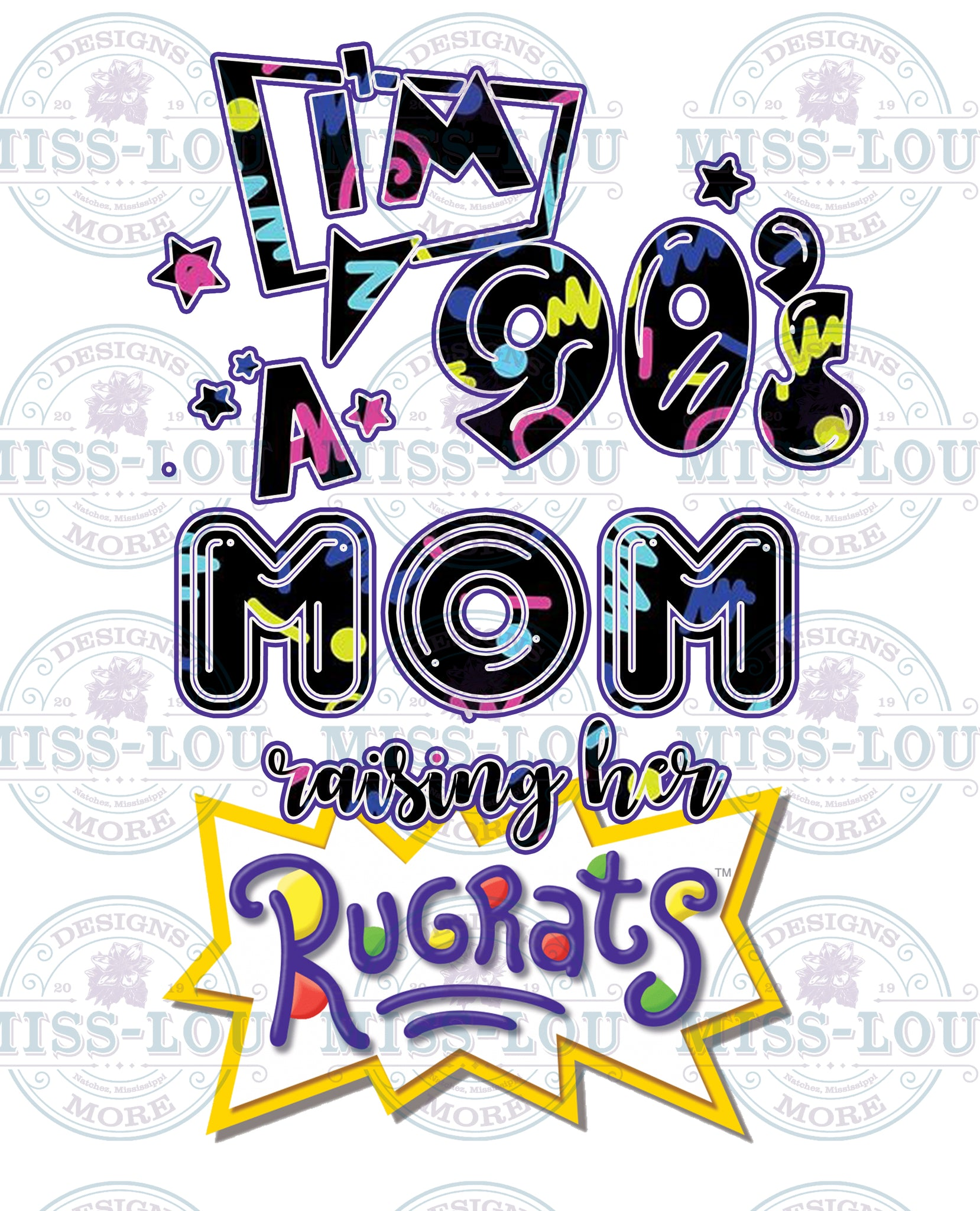 90's Mom Raising her Rugrats Digital Download