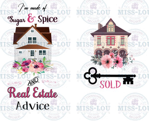 I'm made of Sugar and Spice and Real Estate Advice 2 Piece Set Digital Download