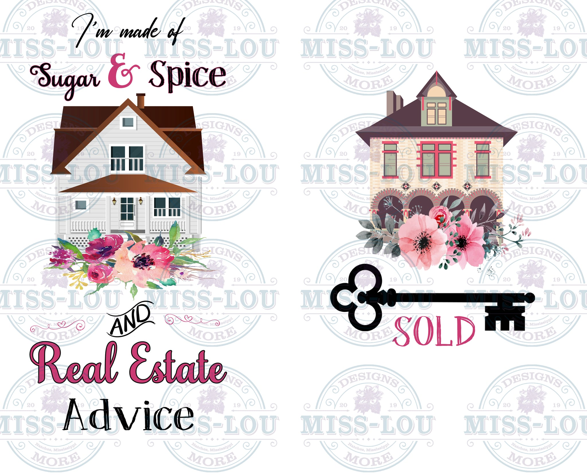 I'm made of Sugar and Spice and Real Estate Advice 2 Piece Set  Waterslide