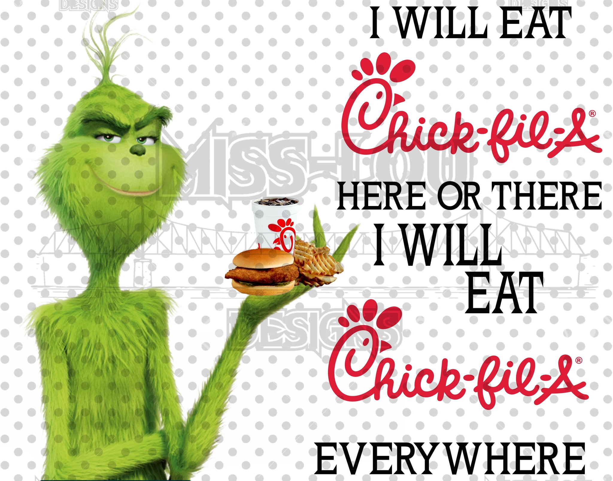 I Will Eat Chick Fil A Grinch Waterslide