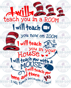 I will Teach with Zoom Waterslide