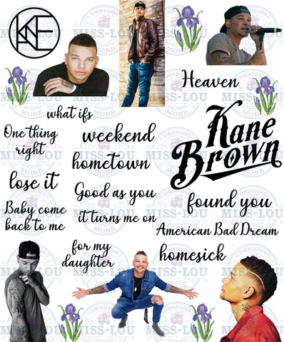 Kane Brown Fan Sheet Waterslide