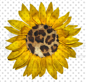Leopard Sunflower Digital Download