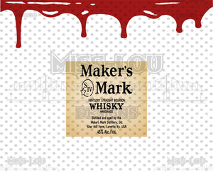 Maker's Mark Label and Seal  Waterslide