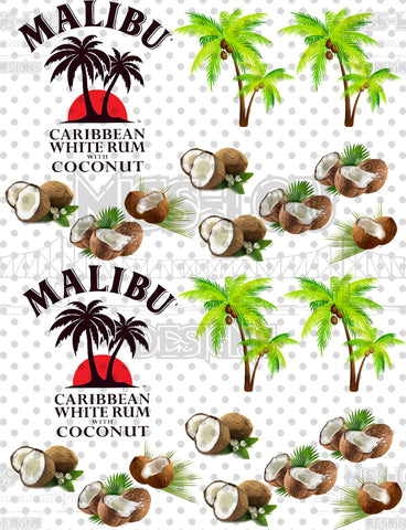 Malibu Rum Half Sheet Exclusive Waterslide