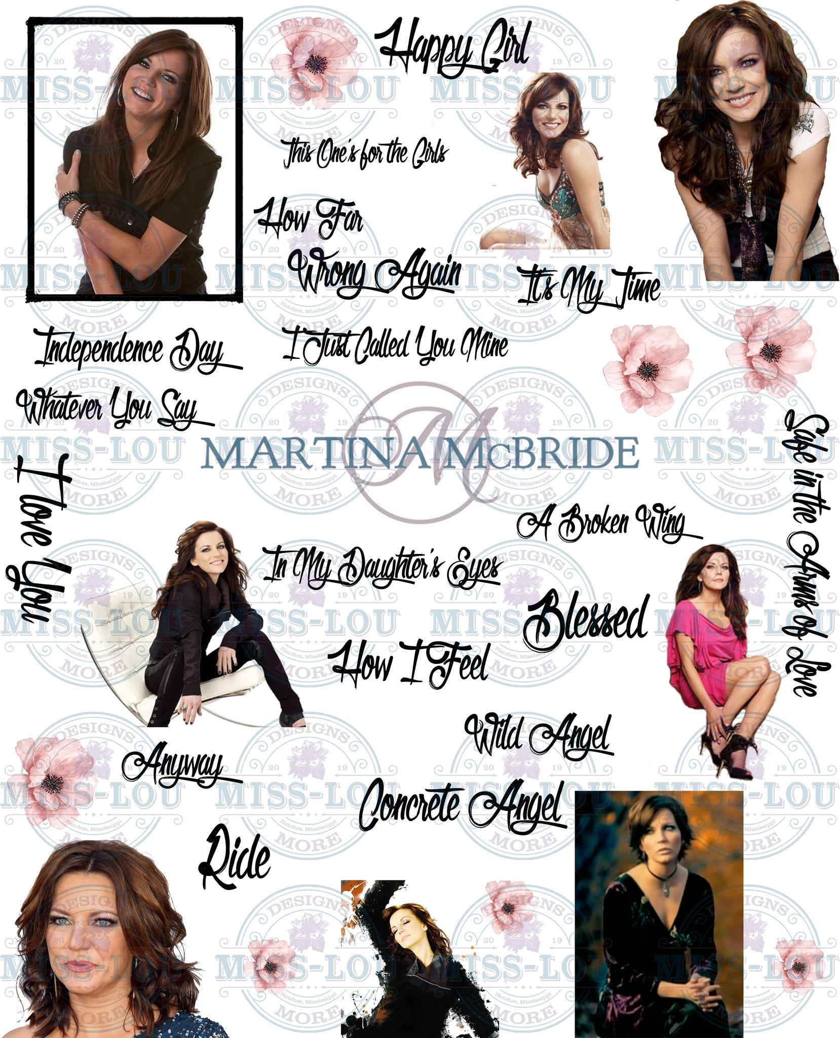 Martina McBride Fan Sheet Waterslide
