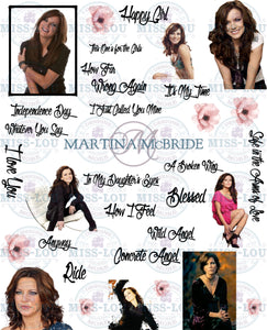 Martina McBride Fan Sheet Digital Download