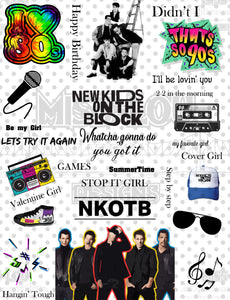 New Kids On the Block Fan Sheet Waterslide