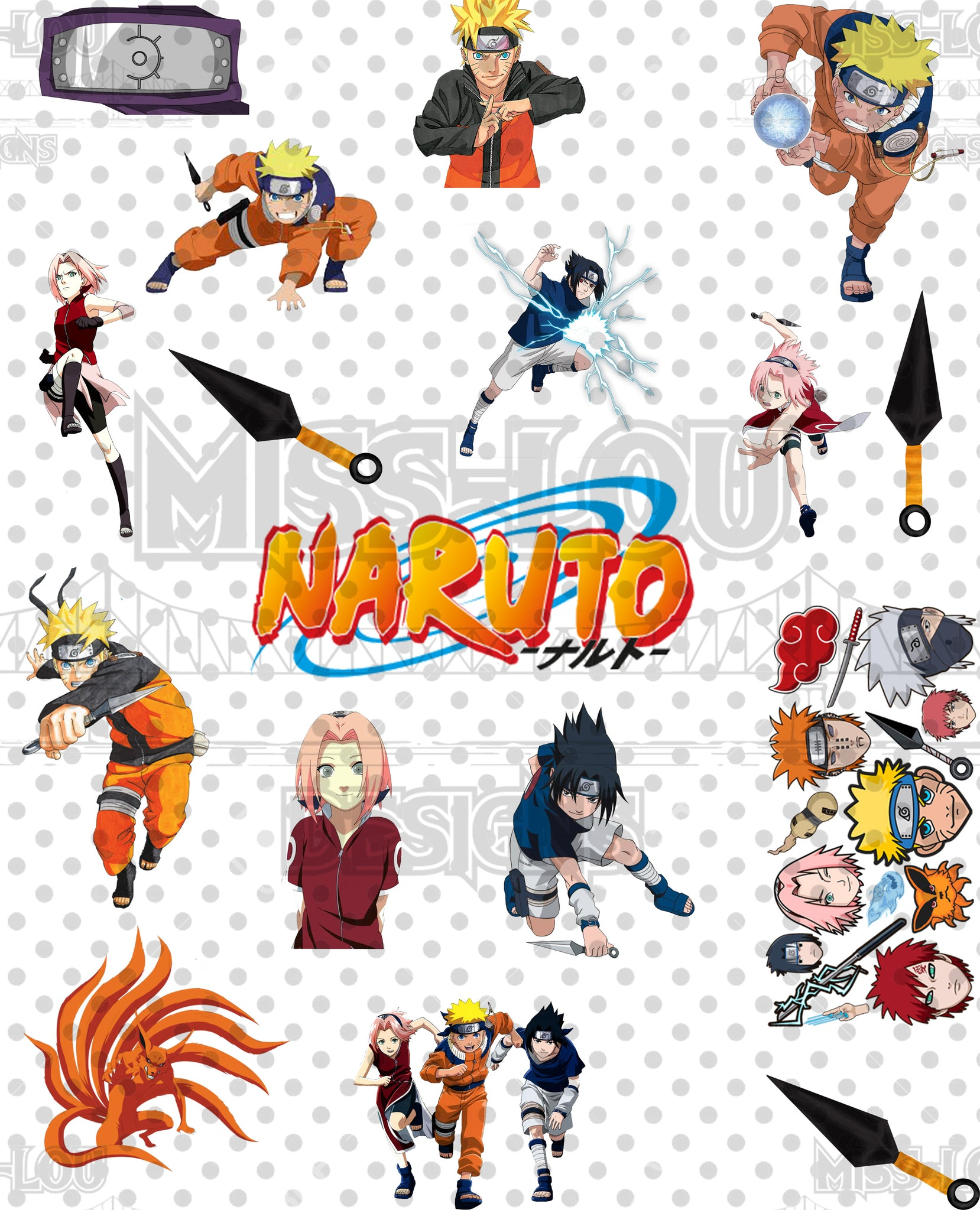 Naruto Fan Sheet Waterslide