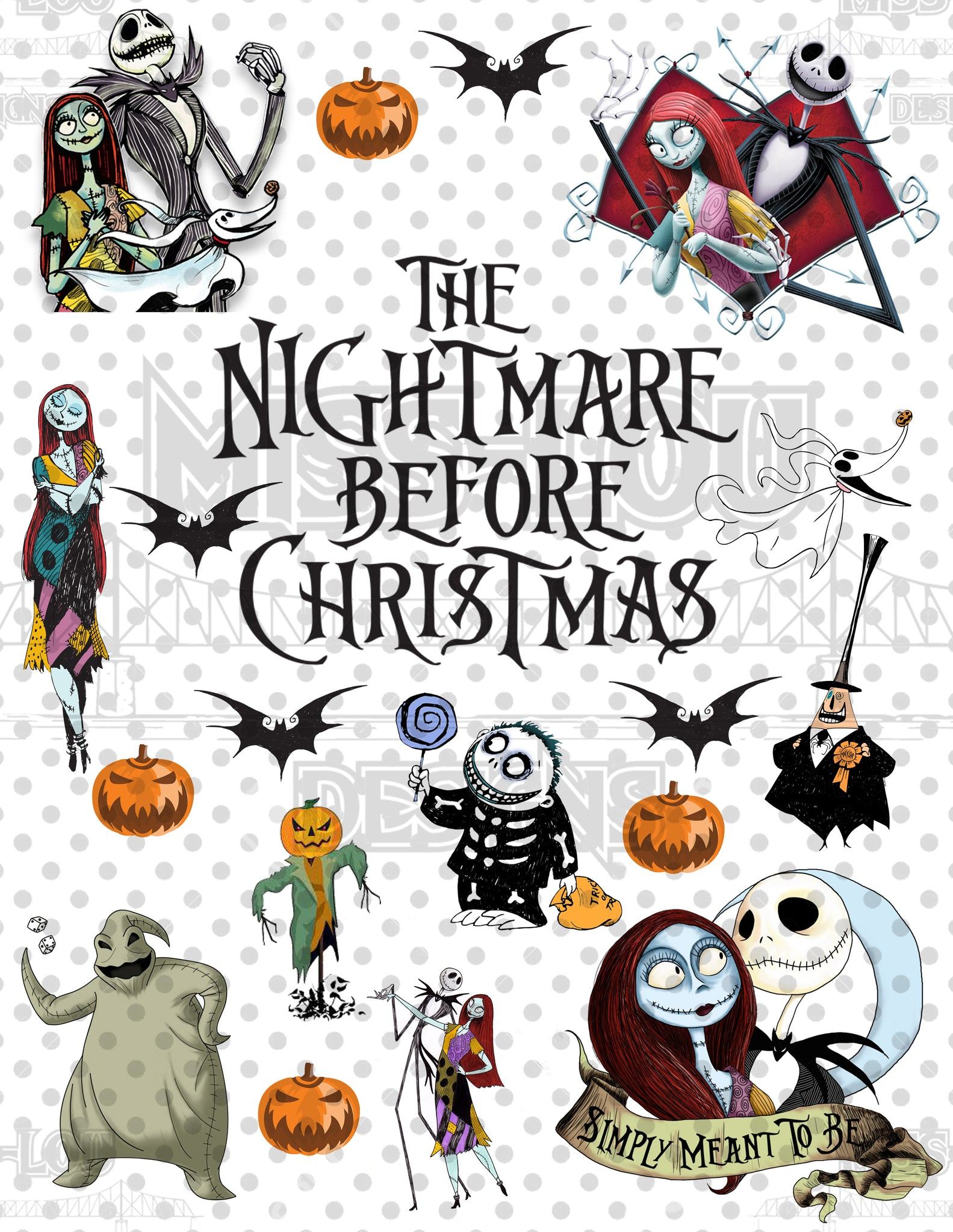 Nightmare before Christmas Fan Sheet Waterslide