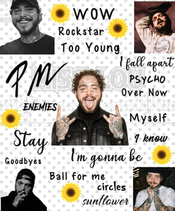 Post Malone V2 Fan Sheet Digital Download