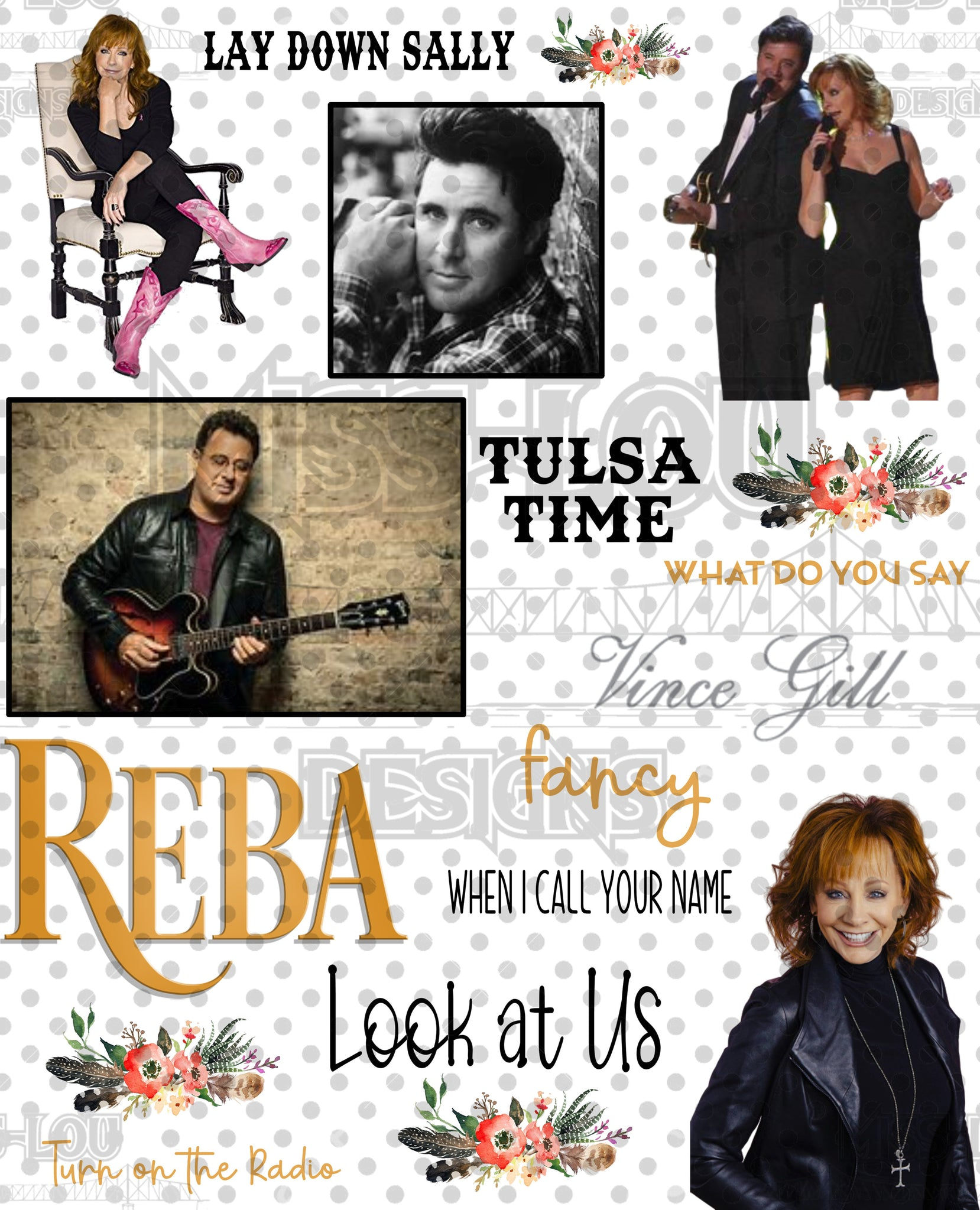 Reba and Vince Gill Fan Sheet Digital Download