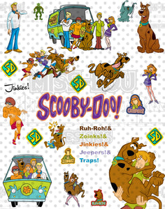 Scooby Doo Fan Sheet Waterslide