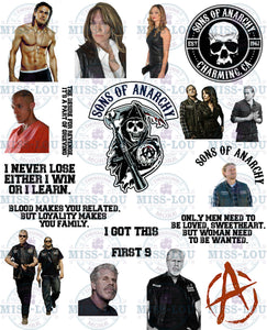 Sons of Anarchy Fan Sheet Digital Download