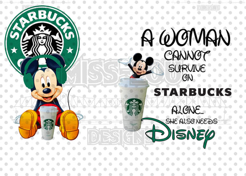 A woman Cannot Survive on Starbucks Alone She Needs 2 Piece Set Exclusive Waterslide