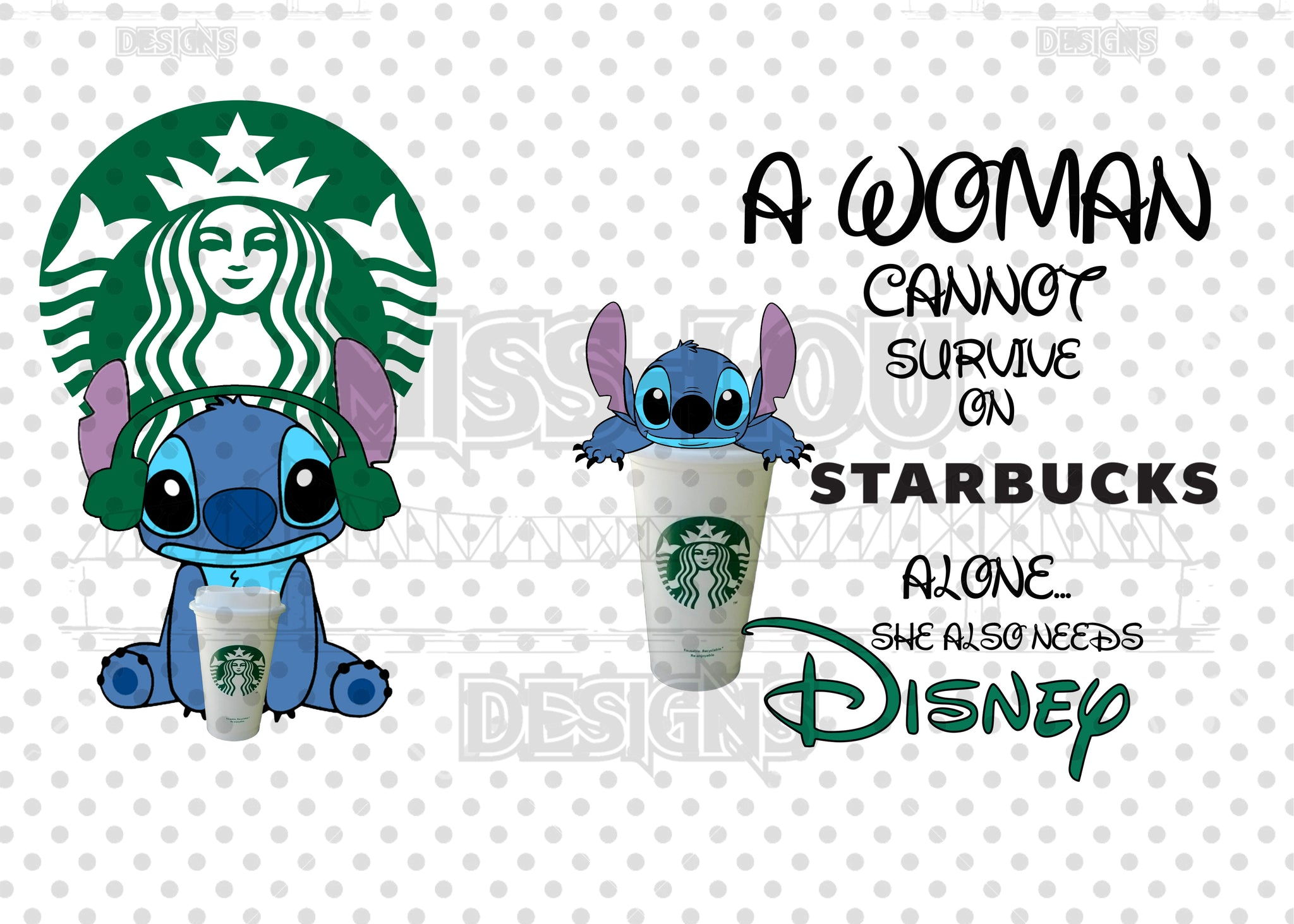 Copy of A woman Cannot Survive on Starbucks Alone She Needs 2 Piece Set Exclusive Waterslide