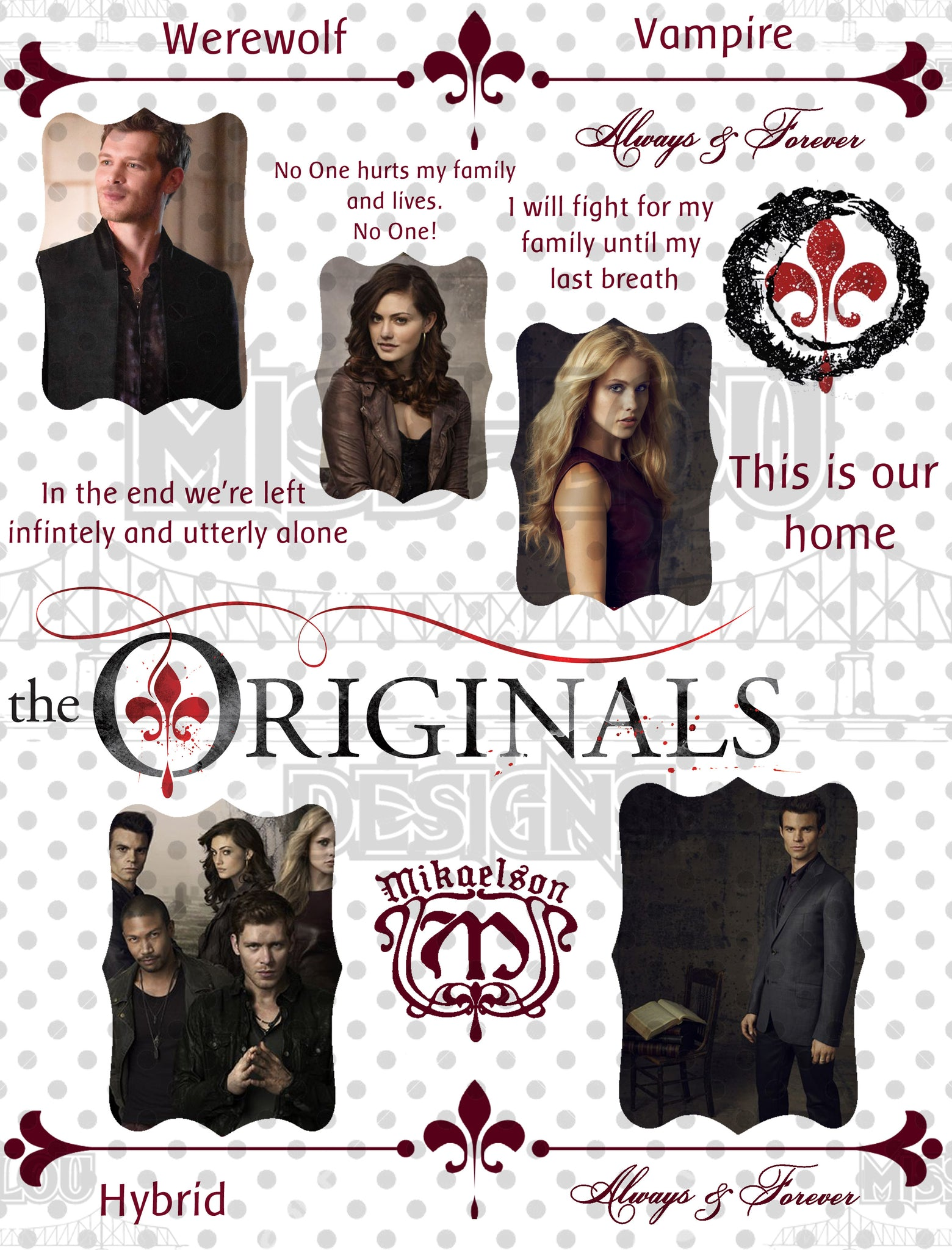 The Originals Fan Sheet Waterslide