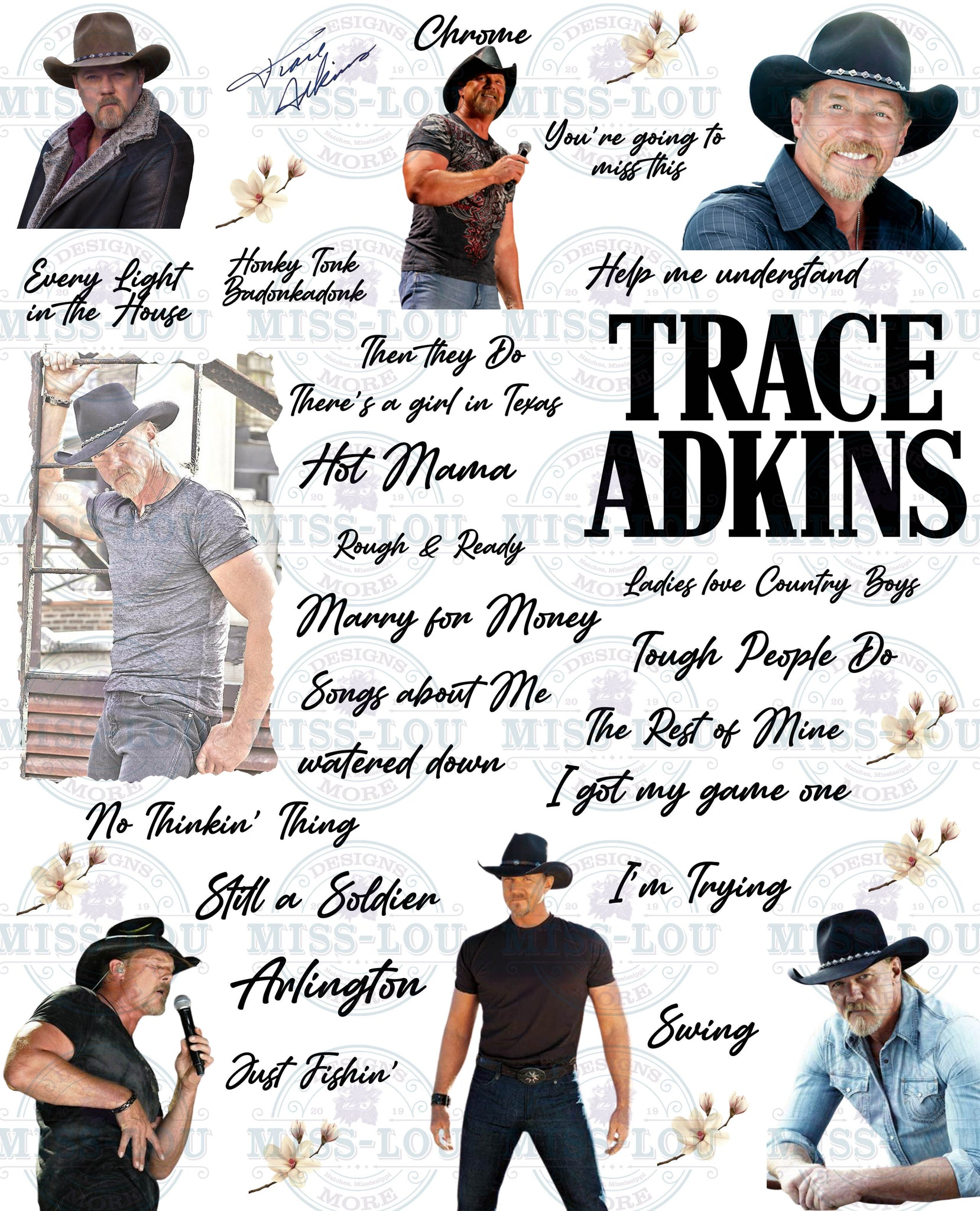 Trace Adkins Fan Sheet Digital Download