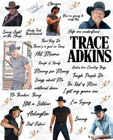 Trace Adkins Fan Sheet Waterslide