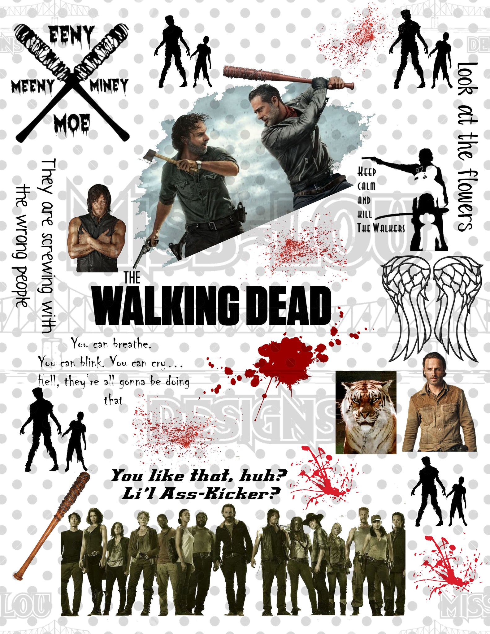 Walking Dead Fan Sheet  Waterslide